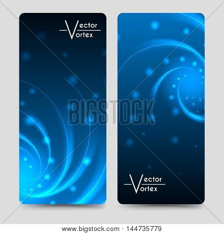 Eurosize brochure banners template with vortex shine elements vector