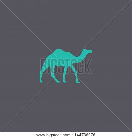 Camel Icon. Vector Concept Illustration For Design