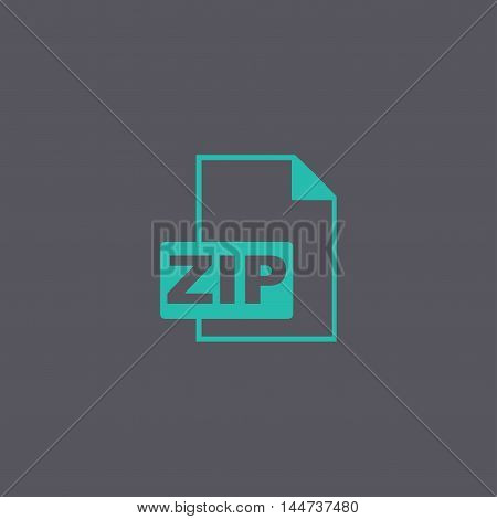 Zip Icon. Vector Concept Illustration For Design