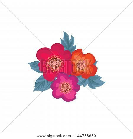 Floral Bouquet  Pattern. Flower Posy Background. Ornament With Flowers Roses. Flourish Wallpaper