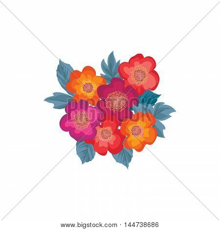 Floral Bouquet Seamless Pattern. Flower Posy Background. Floral Ornamental Texture With Flowers. Flo