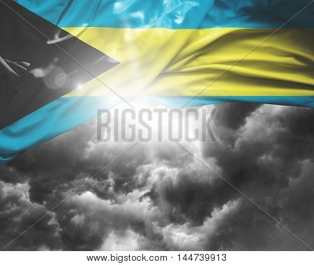 Bahamas flag on a bad day