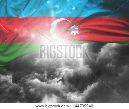 Azerbaijan flag on a bad day