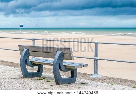 shot of the beach in belgium on a cloudy summer's day