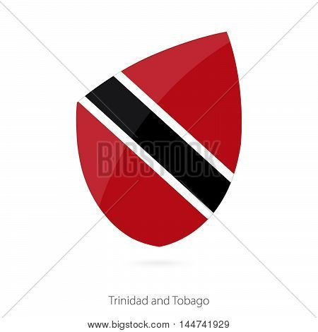 Flag of Trinidad and Tobago in the style of Rugby icon. Vector Illustration.