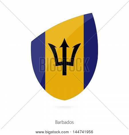 Flag of Barbados in the style of Rugby icon. Vector Illustration.