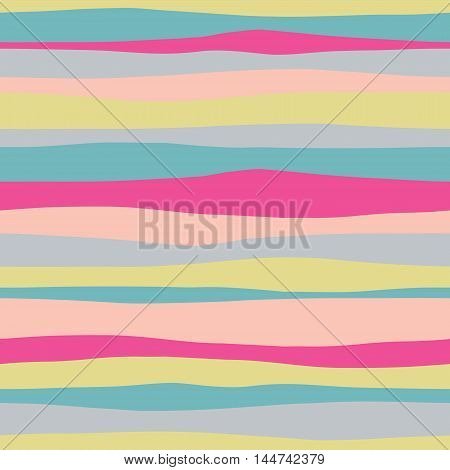 Abstract horizontal colorful seamless pattern. Vector illustration