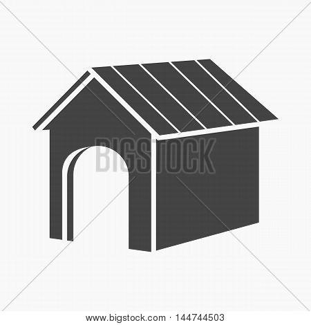 Doghouse vector illustration icon in black design