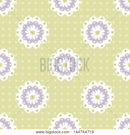 seamless daisy background and pattern vector illustration