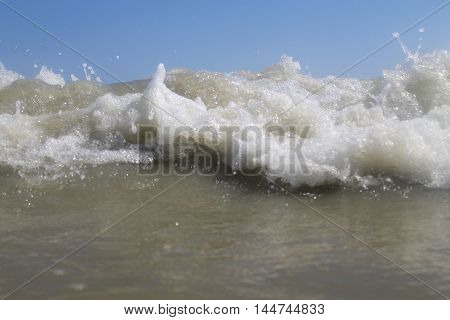 close up of a wave of the Adriatic sea