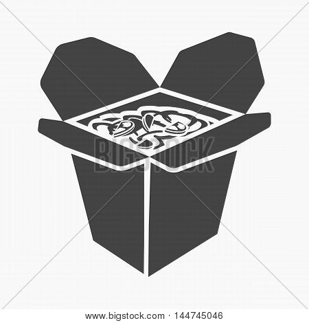 Noodles vector illustration icon in simple design