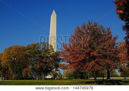 Washington D.C. in Autumn - Washington Monument