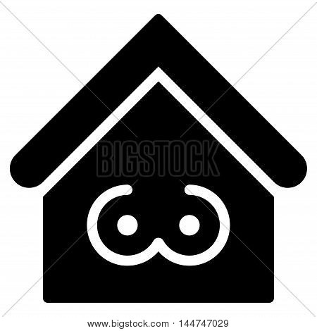Strip Bar icon. Glyph style is flat iconic symbol, black color, white background.