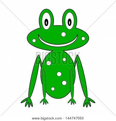 Frog icon on white background. Vector illustration.