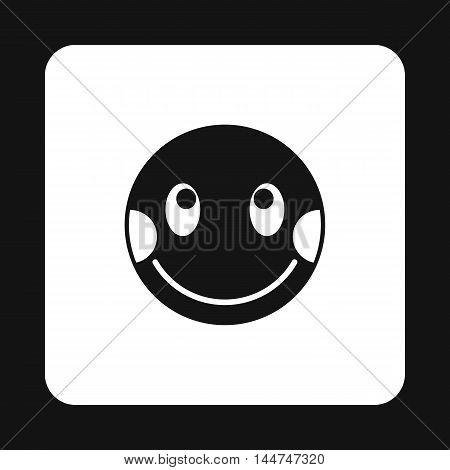 Confused emoticon icon in simple style isolated on white background