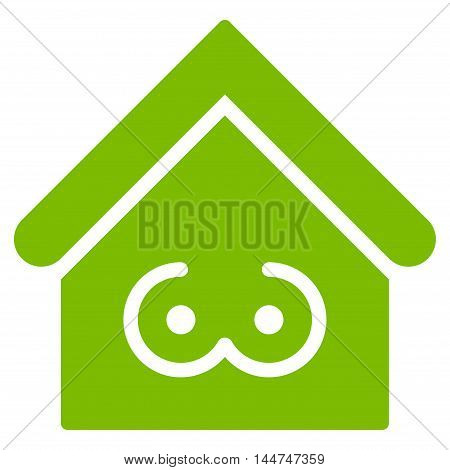 Strip Bar icon. Glyph style is flat iconic symbol, eco green color, white background.