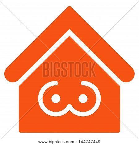 Strip Bar icon. Glyph style is flat iconic symbol, orange color, white background.