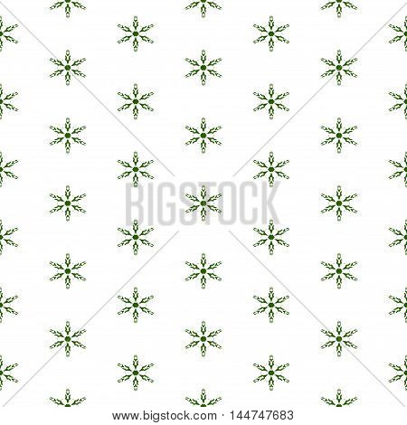 Ornamental blossom or stars white background or seamless pattern