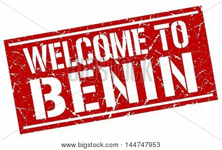 welcome to Benin. stamp. grunge square sign