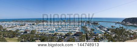 panoramic view of Dana Point harbour, Orange County - California