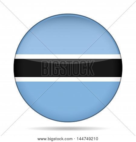 button with national flag of Botswana and shadow