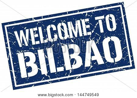welcome to Bilbao. stamp. grunge square sign
