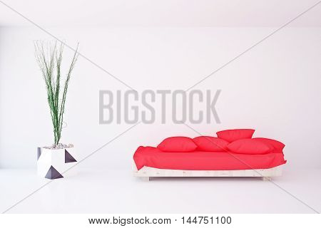 Interior With Plant And Couch