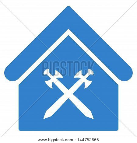 Guard Office icon. Vector style is flat iconic symbol, cobalt color, white background.