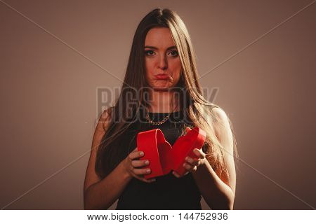 Woman With Valentines Box