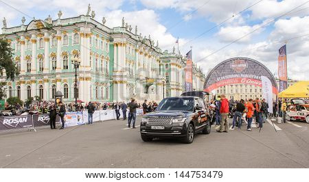 St. Petersburg, Russia - 13 August, Vehicle tracking parade,13 August, 2016. The annual International Motor Festival Harley Davidson in St. Petersburg.