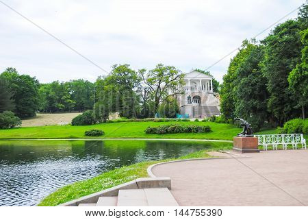 Nice Park Tsarskoye Selo in St. Petersburg