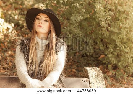 Portrait Of Beauty Woman In Hat