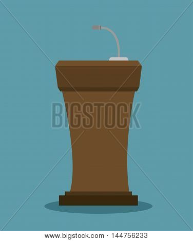 podium speech  icon vector illustration design eps10