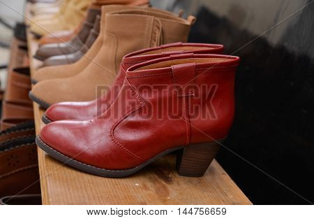 boots in a store
