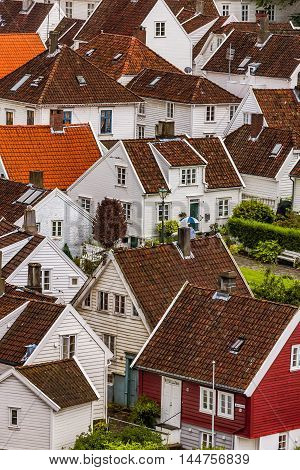 Symbolic Houses In The City, Stavanger, Norway