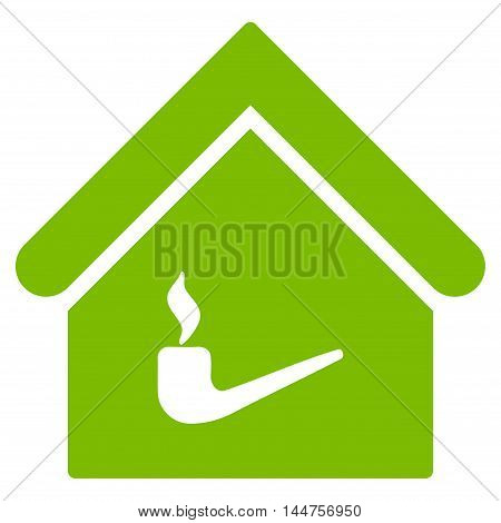 Smoking Room icon. Vector style is flat iconic symbol, eco green color, white background.