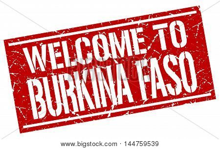 welcome to Burkina Faso. stamp. grunge square sign