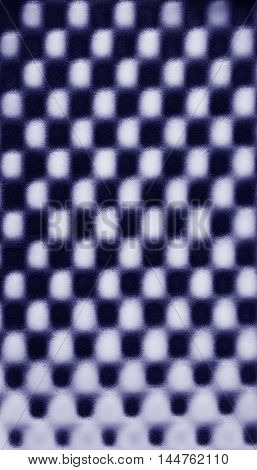 Violet blue abstract foam chess pattern texture background