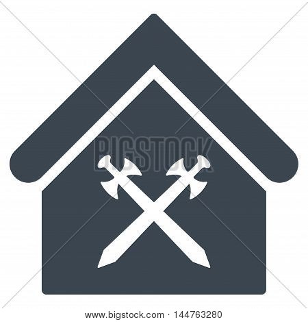 Guard Office icon. Vector style is flat iconic symbol, smooth blue color, white background.