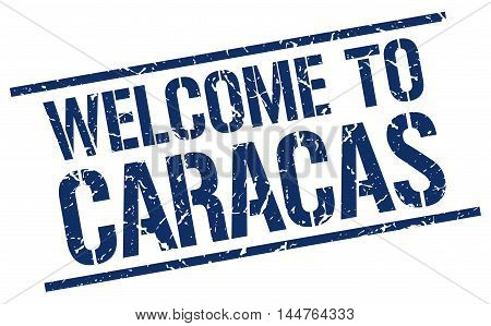 welcome to Caracas. stamp. grunge square sign