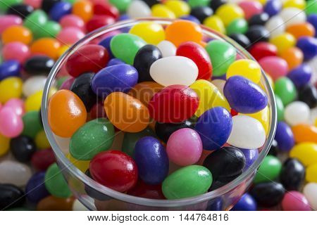 Abstract Close-Up Of Multi Colored Jelly beans