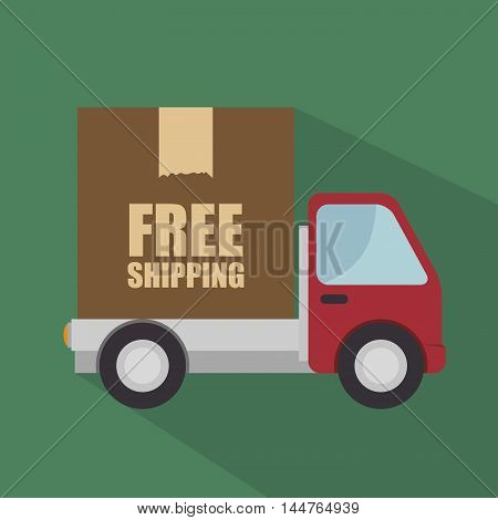 free shipping delivery icon vector illustration design
