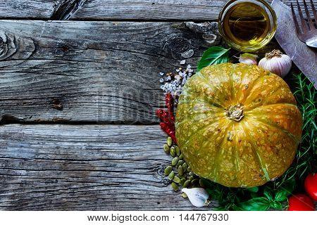 Pumpkin With Ingredients