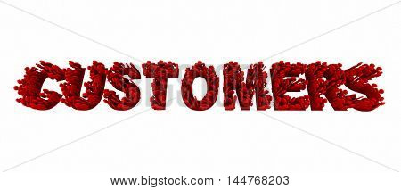 Customers People Clients Prospects Word 3d Illustration