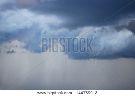 blue sky with raincloud. dark raincloud motion.