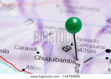 Chuquibamba pinned on a map of Peru