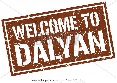 welcome to Dalyan. stamp. grunge square sign