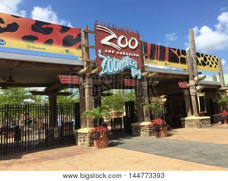 COLUMBUS, OHIO - AUGUST 29, 2016:  The Columbus Zoo and Aquarium is committed to conservation on a global level.  It is also a premier attraction in central Ohio with worldwide recognition.