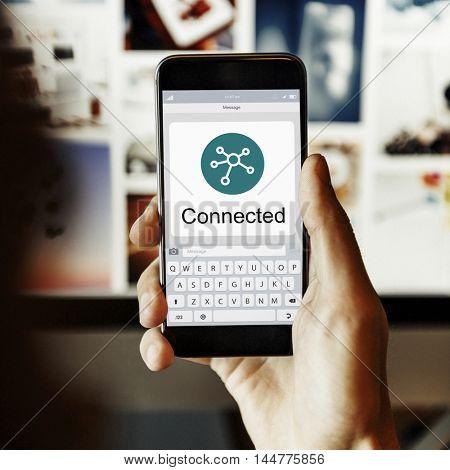 Digital Online Connection Symbol Concept