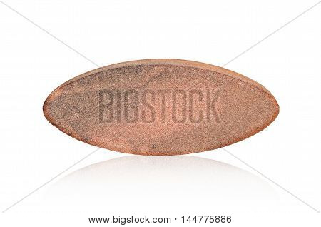 A skin scrub stone isolated on white background Saved clipping path.